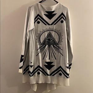 Material Girl (Macy's). Black/ White Cardigan. MED